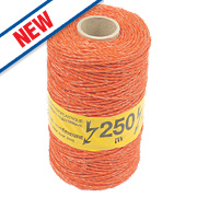 Wolseley Electric Fence Polywire Orange 3mm x 250m