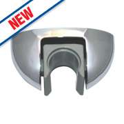 Swirl Wall Bracket Chrome 80mm