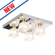Spa Aquila 4-Light Bathroom Ceiling Light Chrome G9 28W