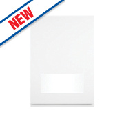 Slab Kitchens Handleless 500 Glass Wall Door White Gloss 715 x 497mm