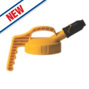 Lubetech Oil Safe Stumpy Spout Lid Yellow
