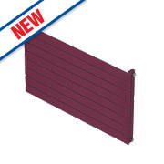 Moretti Modena Single Panel Horizontal Radiator Claret 578 x 800mm