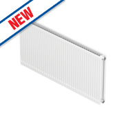 Barlo Round-Top Double Panel Plus Radiator White 400 x 700mm