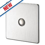 Crabtree 1-Gang 400W Touch Dimmer Brushed Chrome