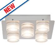 Brilliant Point 5-Light LED Wall Light Chrome 25W 240V
