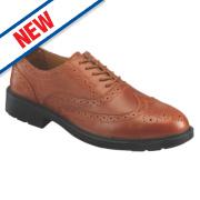 JCB S76SM Brogue Safety Shoes Tan Size 12