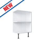 Open End Kitchen Base Unit White 300 x 570 x 735mm