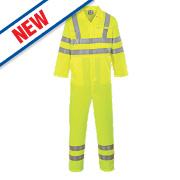 "Portwest E042 Hi-Vis Coverall Yellow Medium 41"" Chest 31"" L"