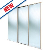Spacepro 3 Door Framed Sliding Wardrobe Mirror Doors 2236 x 2260mm