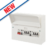 MK Sentry 12-Module Metal Consumer Unit with 100A Switch Disconnector