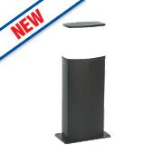 Saxby Tiesto Textured Black Paint LED Post Light 600Lm 10W
