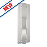 Ximax Aurora Vertical Curved Designer Radiator w/ Mirror White 1800x580mm