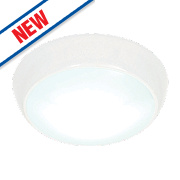 Saxby Vigor LED Flush Bulkhead Gloss White 16W