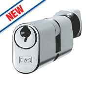 Eurospec 5-Pin Master Keyed Oval Cylinder Thumbturn Lock 30-30 (60mm) Polished Chrome