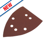 Flexovit Corner Sanding Triangles Punched 145mm Assorted Grit Pack of 6