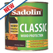 Sadolin Classic Exterior Woodstain Translucent Matt Jacobean Walnut 1Ltr