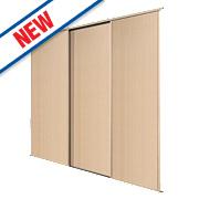 Spacepro 3 Door Panel Sliding Wardrobe Doors Maple 2692 x 2260mm