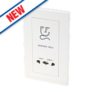 Retrotouch Simplicity 2G Dual Voltage Shaver Socket 115/240V White