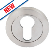Eurospec Contemporary Euro Profile Escutcheon Sat Stainless Steel 52mm