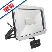 Brackenheath ispot LED Floodlight with Microwave Sensor 50W Black