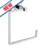 Moretti Linear Towel Ring Chrome