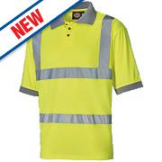 "Dickies SA22075 Hi-Vis Polo Shirt Saturn Yellow XX Large 54"" Chest"