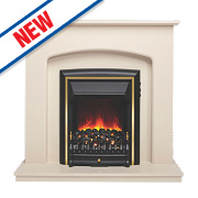 Be Modern Lusso Eco Traditional Electric Fire Suite Ivory Finish 2kW