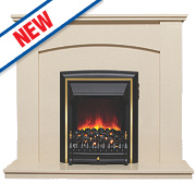 Be Modern Hedley Eco Electric Fire Suite Marfil Stone Micro Marble