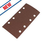 Flexovit Sanding Sheets Aluminium Oxide 185 x 93mm 80 Grit Pack of 6