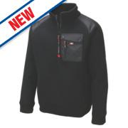 Lee Cooper Ribbed Fleece Jacket Black Large