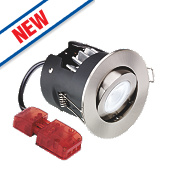 Aurora Fire Rated Adjustable LED Downlight IP20 Satin Nickel 10W
