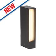 Hollow Matt Black LED Post Light 450Lm 8W