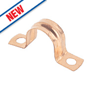 Copper Pipe Clips 15mm Pack of 10
