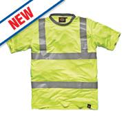 "Dickies SA22080 Hi-Vis T-Shirt Saturn Yellow XX Large 54"" Chest"
