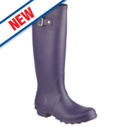 Cotswold Sandringham Buckle-Up Non-Safety Wellington Boots Purple Size 4