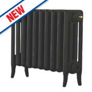 Arroll Neo-Classic 4-Column Cast Iron Radiator Black Primer 460 x 634mm