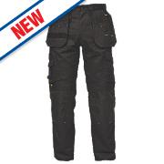 """DeWalt Pro Tradesman Trousers Black 38"""" W 33"""" L"""