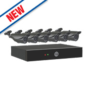 Yale 804A 8-Channel CCTV Digital Video Recorder with 6 Cameras
