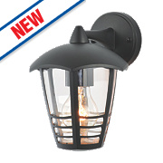 Zinc Perdita Black Lantern Wall Light 60W