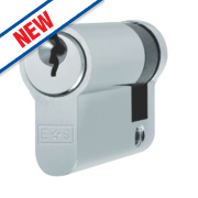 Eurospec 5-Pin Keyed Alike Single Euro Cylinder Lock 50mm Polished Chrome