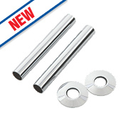 Arroll Pipe Shroud Kit Chrome 130 x 18mm