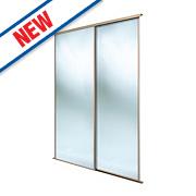 Spacepro 2 Door Framed Sliding Wardrobe Mirror Doors 1499 x 2260mm