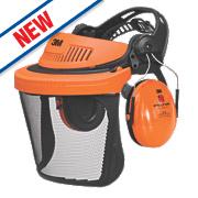3M Peltor G500 Forestry Combination with Ear Defenders & Visor Black/Orange