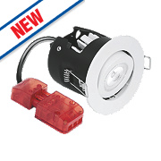 Aurora Fire Rated Adjustable LED Downlight IP20 Matt White 10W