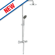 Grohe Vitalio Thermostatic Bath/Shower System Exposed Chrome