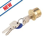 Eurospec 5-Pin Keyed Alike Threaded Rim Cylinder Polished Brass 45mm