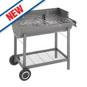Landmann Grill Chef Oil Drum Charcoal Barbecue Grey 94 x 48 x 98cm