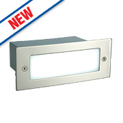 Saxby Kia Recessed LED Brick Light Brushed Stainless Steel 1W