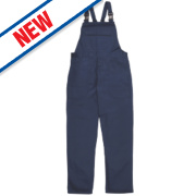 Portwest Bizweld Flame-Resistant Bib & Brace Navy Medium 34