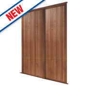Spacepro 2 Door Panel Sliding Wardrobe Doors Walnut 1803 x 2260mm